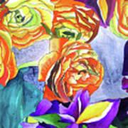 Ranunculus And Iris Poster