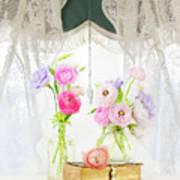 Ranunculus In Window Poster