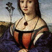 Raphael Portrait Of Maddalena Doni Poster