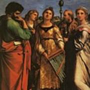 Raphael St Cecilia With Sts Paul John Evangelists Augustine And Mary Magdalene Poster
