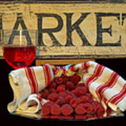 Raspberries At The Market Poster