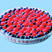 Raspberry And Blueberry Tart Poster