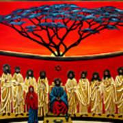 Rastafarian Last Supper Poster by EJ Lefavour