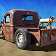 Rat Truck On Beach 2 Poster
