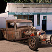 Raunchy Rat Rod Pickup Poster