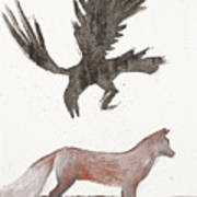 Raven And Old Fox Poster