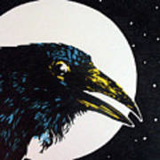 Raven Moon Poster