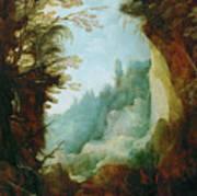Ravine Between Rocks Poster