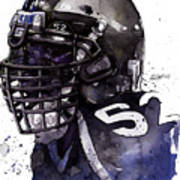 Ray Lewis -  Last Game Poster