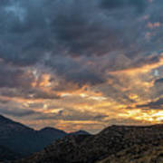 Rays Above Tecate Peak Poster