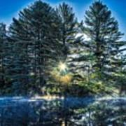 Rays Of Light On The Androscoggin River Poster