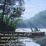 Rays Of Light - Place To Ponder Poster