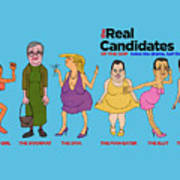 Real Candidates Of The Gop -clear Background Version 2 Poster