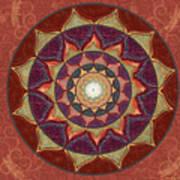Realm Of The Desert Lotus Mandala Poster
