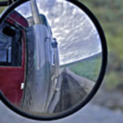Rear View Mirror Of Alaska's Haul Road Poster