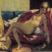 Reclining Odalisque Poster by Ferdinand Victor Eugene Delacroix