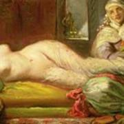Reclining Odalisque Poster by Theodore Chasseriau