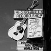 Record Shop- By Linda Woods Poster