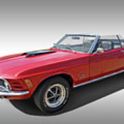Red 1970 Mach 1 Mustang 351 Cleveland Poster