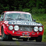 Red And Black Lancia Fulvia Poster