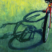 Red And Green - Bike Art Poster by Linda Apple