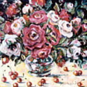 Red And White Roses II Poster