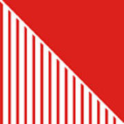 Red And White Triangles Poster
