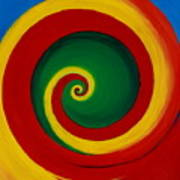 Red And Yellow Swirl Poster