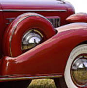 Red Antique Car Poster