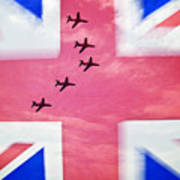 Red Arrows Flag Poster