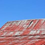 Red Barn And Blue Sky- Fine Art Poster