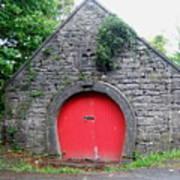 Red Barn Door In Ireland Poster