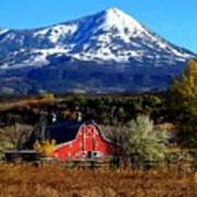Red Barn In Paonia Colorado Poster
