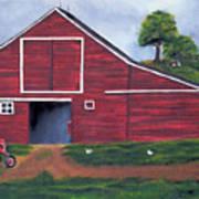 Red Barn In South Dakota Poster