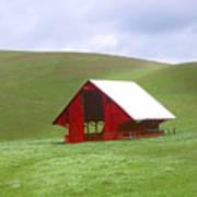 Red Barn In Spring Poster
