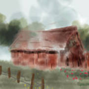 Red Barn Poster