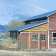 Red Barn, Route 50, Nevada Poster