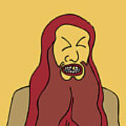 Red Bearded Man Poster