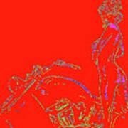 Red Biker Biatch Ps Poster