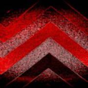 Red Black Chevron Poster