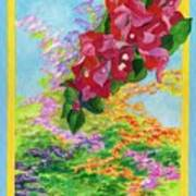 Red Bougainvillea Poster