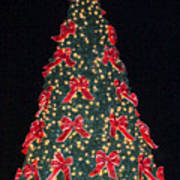 Red Bow Tree Poster