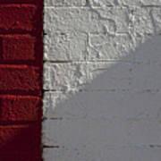 Red Brick White Brick Poster by Robert Ullmann