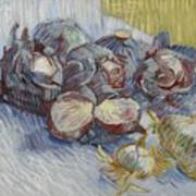 Red Cabbages And Onions Paris, October - November 1887 Vincent Van Gogh 1853  1890 Poster