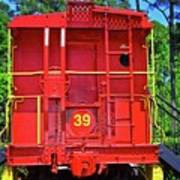 Red Caboose Poster