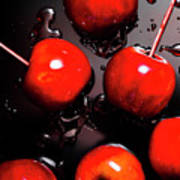 Red Candy Apples Or Apple Taffy Poster