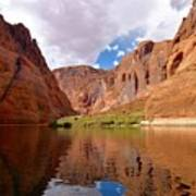 Red Canyon Reflections Poster