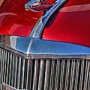 Red Chevrolet Grill And Hood Ornament Poster