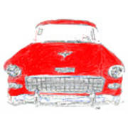 Red Chevy T-shirt Poster