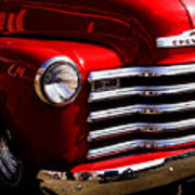 Red Chevy Truck Poster